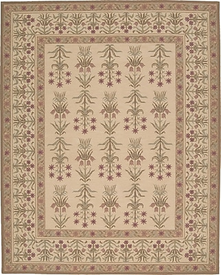 August Grove Centerville Handmade Light Gold Area Rug; 3'9'' x 5'9''