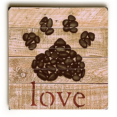 August Grove Love Paw Graphic Art Plaque; 13'' H x 13'' W x 0.75'' D