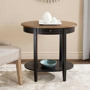 August Grove Monica End Table; Black/Oak