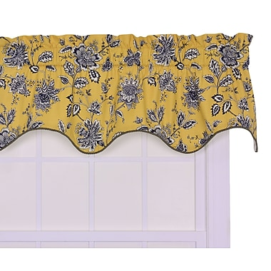 August Grove Lima Lined Duchess Filler 50'' Curtain Valance; Yellow