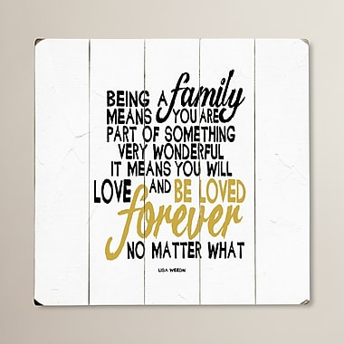 August Grove Being a Family Textual Art Plaque; 13'' H x 13'' W x 0.75'' D