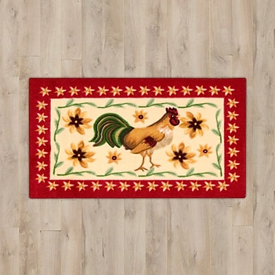 August Grove Lyn Beige Rooster Area Rug
