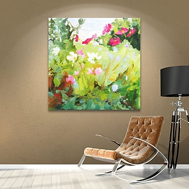August Grove Late Summer Flowers Painting Print on Wrapped Canvas; 14'' H x 14'' W x 2'' D