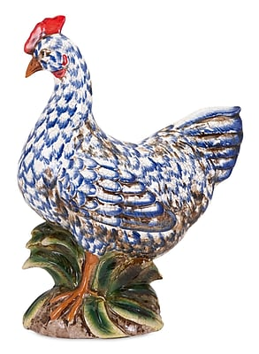 August Grove OI Blue Rooster Figurine