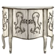 August Grove Forest River Coffer Demilune 4 Door Accent Cabinet