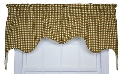 August Grove Gwyn Empress 70'' Curtain Valance; Brown