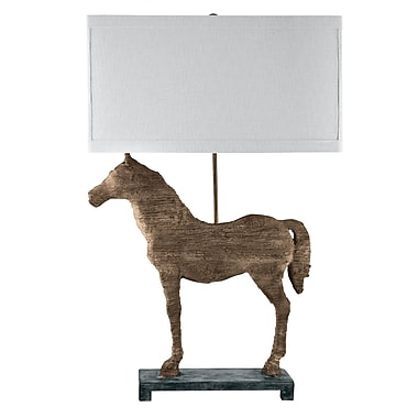 August Grove Carved Horse 31'' Table Lamp