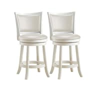 August Grove Volane 24'' Swivel Bar Stool (Set of 2)