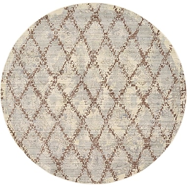 August Grove Karlee Gray Area Rug; Round 6'