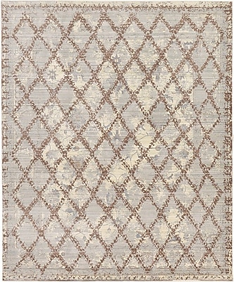 August Grove Karlee Gray Area Rug; Rectangle 8' x 10'