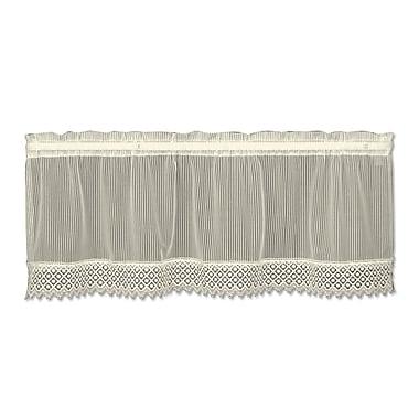 August Grove Arles 48'' Curtain Valance; Ecru