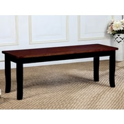 August Grove Marilou Wood Dining Bench; Black