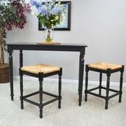 August Grove Emilia Dining Table; Antique Black