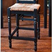 August Grove Emilia 24'' Bar Stool; Antique Black