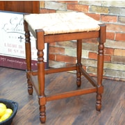 August Grove Emilia 24'' Bar Stool; Chestnut