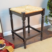 August Grove Emilia 24'' Bar Stool; Espresso