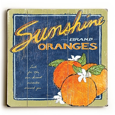 August Grove Sunshine and Oranges Wall Art; 13'' H x 13'' W