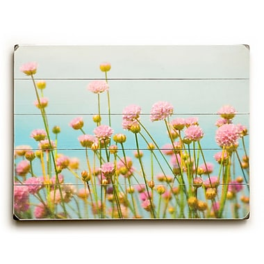August Grove Subtle Pink Flowers Graphic Art; 18'' H x 24'' W