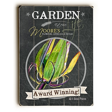 August Grove Garden Award Winning Wooden Textual Art; 16'' H x 12'' W x 1'' D