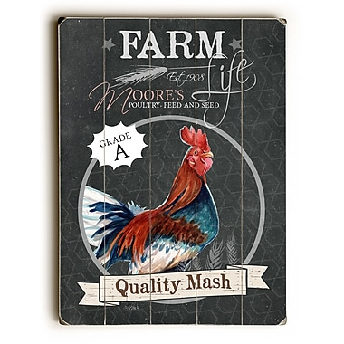 August Grove Farm Quality Mash Wooden Textual Art; 24'' H x 18'' W x 1'' D