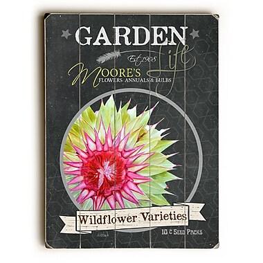 August Grove Garden Wildflower Varieties Wooden Textual Art; 40'' H x 30'' W x 1'' D