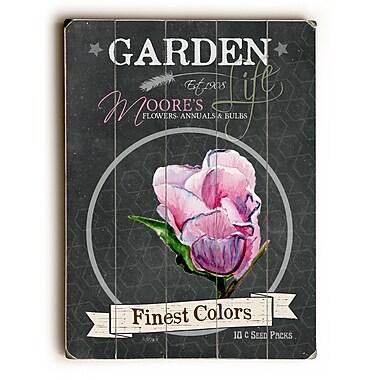 August Grove Garden Finest Colors Wooden Textual Art; 20'' H x 14'' W x 1'' D