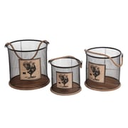 August Grove 3 Piece Iron Basket Set