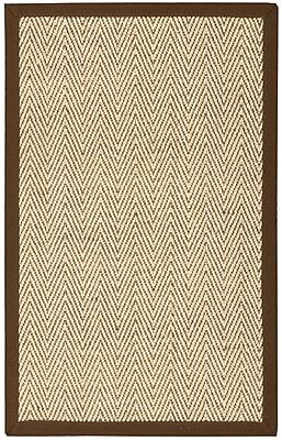 August Grove Genevieve Brown/Beige Area Rug; 2' x 3'
