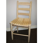 Dixie Seating Adult Ladder Back Side Chair; Unfinished