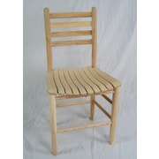 Dixie Seating Adult Slat Seat Side Chair; Unfinished