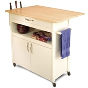 August Grove Allie Kitchen Cart w/ Wood