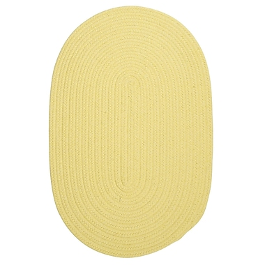 August Grove Navarrette Yellow Outdoor Area Rug; Round 10'