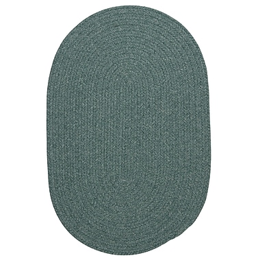 August Grove Navarrette Teal Area Rug; Oval Runner 2' x 10'