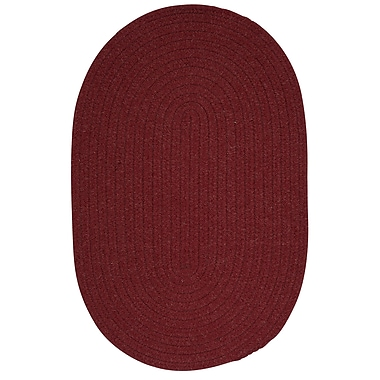 August Grove Navarrette Holly Berry Area Rug; Oval 3' x 5'