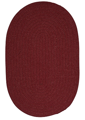 August Grove Navarrette Holly Berry Area Rug; Oval 12' x 15'