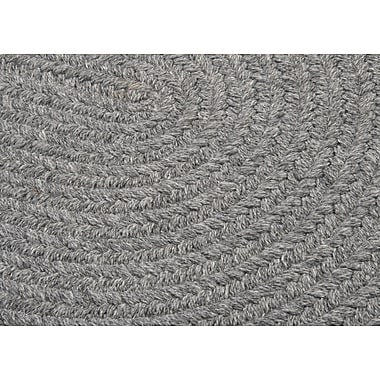 August Grove Navarrette Gray Area Rug; Round 6'