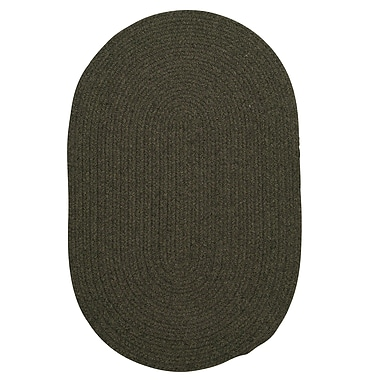 August Grove Navarrette Olive Area Rug; Oval Runner 2' x 10'