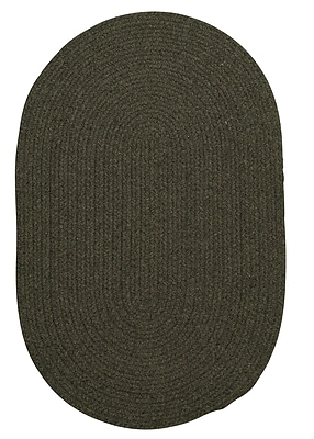 August Grove Navarrette Olive Area Rug; Oval 8' x 11'