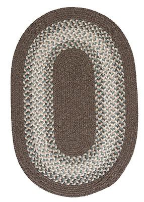 August Grove Serafin Bark Area Rug; Oval 4' x 6'