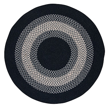 August Grove Serafin Navy Area Rug; Round 4'