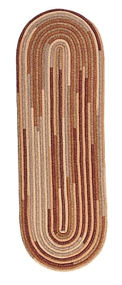 August Grove Chapelle Red Area Rug; Oval Runner 2' x 10'