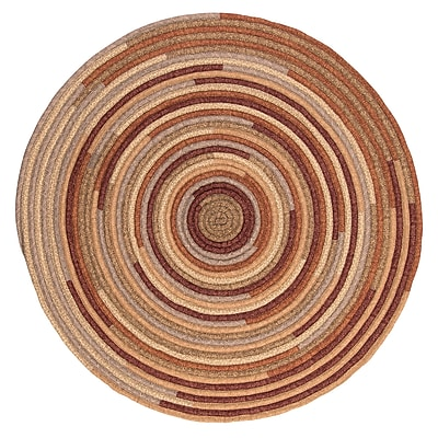 August Grove Chapelle Red Area Rug; Round 8'