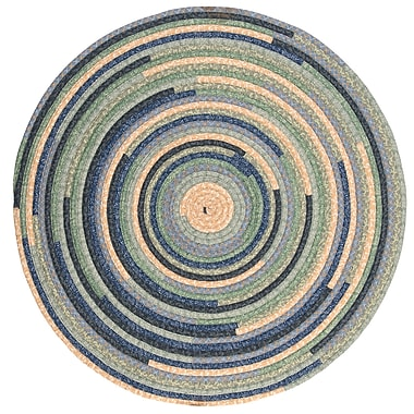 August Grove Chapelle Blue Area Rug; Round 12'
