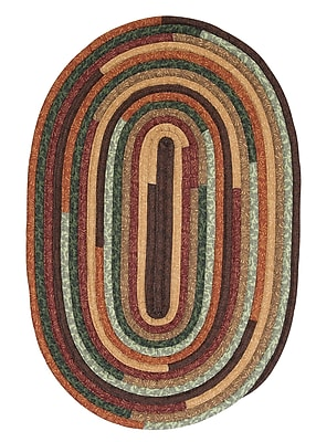 August Grove Chapelle Brown Area Rug; Oval 4' x 6'