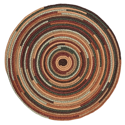 August Grove Chapelle Brown Area Rug; Round 8'