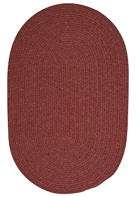 August Grove Navarrette Red Area Rug; Round 8'
