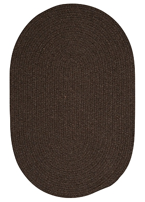 August Grove Navarrette Brown Area Rug; Oval 2' x 4'