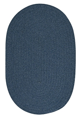 August Grove Navarrette Blue Area Rug; Oval 4' x 6'