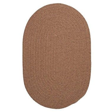 August Grove Navarrette Brown Area Rug; Oval 2' x 6'