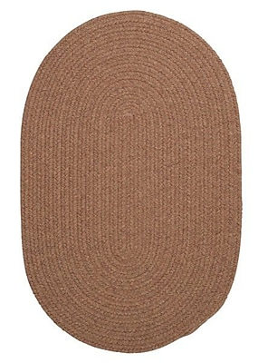 August Grove Navarrette Brown Area Rug; Oval 7' x 9'